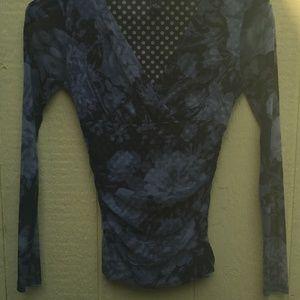 INC,V-Neck Long-sleeved Blouse